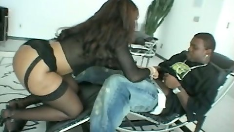 Big ass ebony milf Adina Jewel blowjob and deep throat attempt