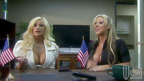 Big tits office bitches Carolyn Reese Shyla Stylez