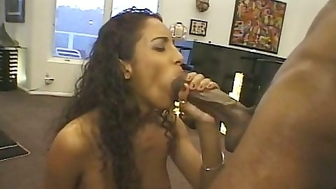 Big dick blowjob with ebony Dee and spread leg penetration