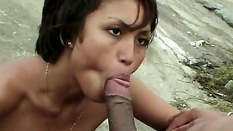 Blowjob with latina Mirella on the beach with full anal outdoor fuck