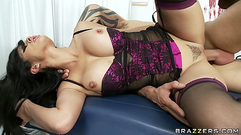 Sexy Shy Love spreds her shaved pussy for deep fuck