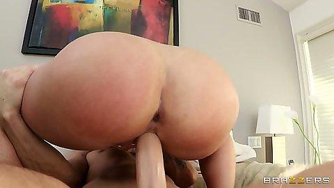 Big ass cock riding milf Katja Kassin enjoys deep anal fuck