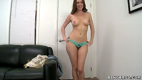 Undressing Desirae Wood for her first sex video audition