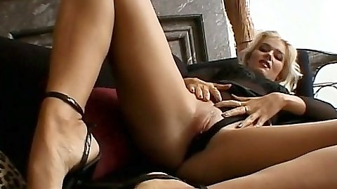 Monica Moore  pulling panties aside to finger self and get licked