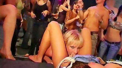 College drunk sex orgy with dancing sluts