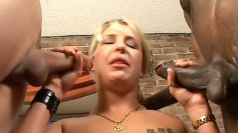 Cum dripping blowjob from Shawna getting her tits wet