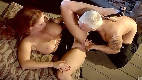 Big tits redhead milf Janet Mason sex and hardcore fuck