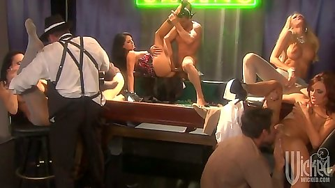 Mobster party with Kirsten Price and Mikayla Mendez and Kaylani Lei