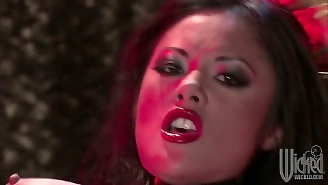 Asian Kaylani Lei masturbating and making out