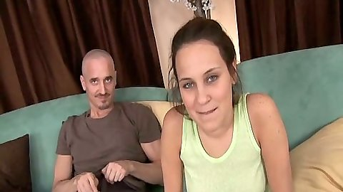 Sienna Snow blowjob with a sexy cute smile in miniskirt