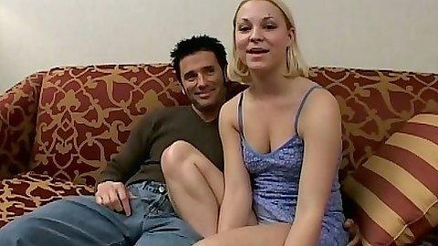 Natural tits petite Daphne Moore blowjob