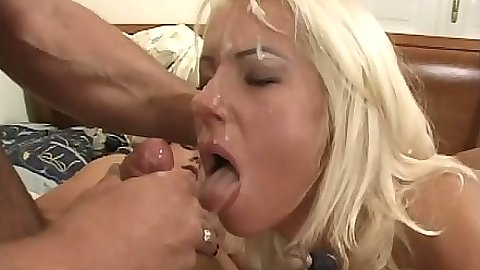 Nice facial marathon with faces getting creamed