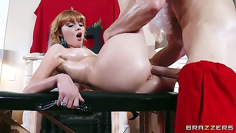 Oil redhead fuck from Marie McCray