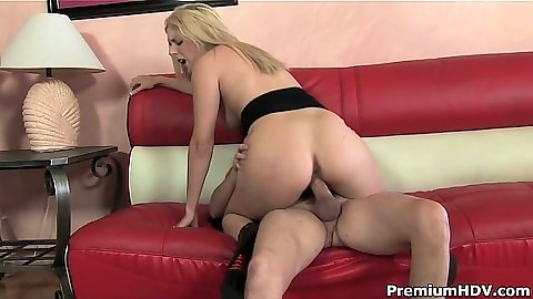 Blonde Cody sitting on dick and cock