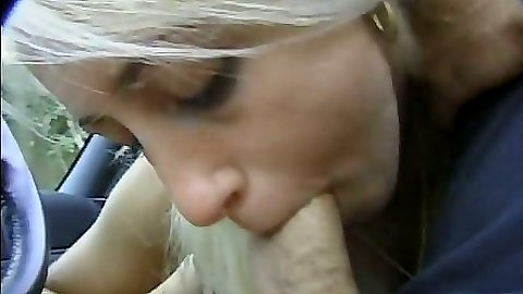 Blowjob in car outdoors with Jessica Darlin