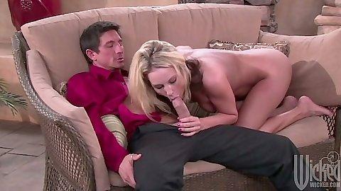 Milf Kiara Diane blowjob with rear entry sex