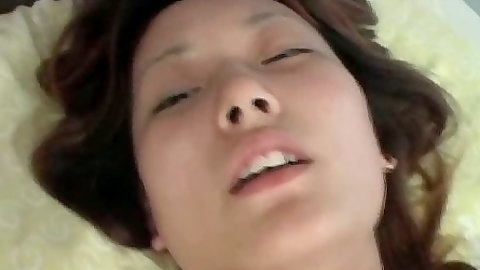 Asian moaning cutie blowjob and cowgirl cock sucking