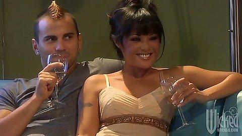Asian babe Mackenzee Pierce and blonde Jayme Langford