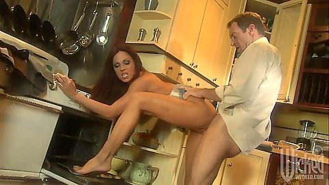Doggy style with Kirsten Price standing up and on the floor