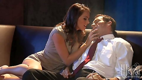 Kissing Tori Black and fingered with pulled aside panties