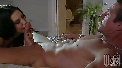 Roxy DeVille blowjob and trimmed pussy sex
