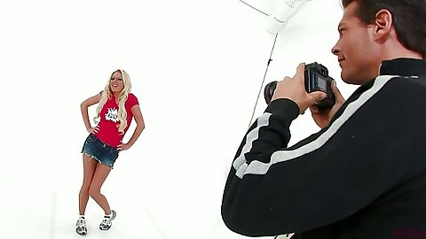 Miniskirt photo shoot with Riley Evans