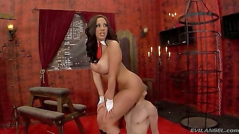 Kelly Divine sitting on mans face in femdom fetish