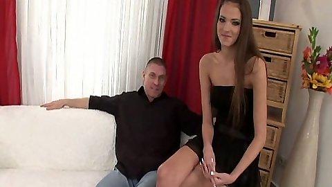 Teen skinny Silvie Deluxe undresses