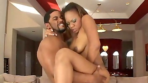 Ebony Persuajon in the air fuck and sucking balls