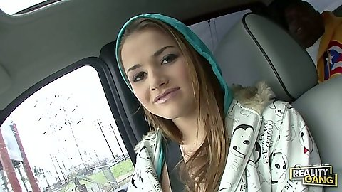 Teen Tori Black taking a drive for big black dick