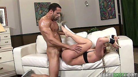 Sexy milf Phoenix Marie hard fucked and pov blowjob