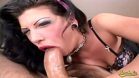 Deep throat rough sucking and jerking from Roxy Deville