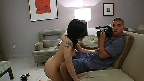 Blowjob with Katja Kassin and pov home video view