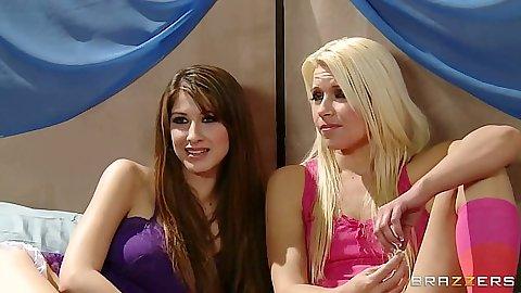 Lesbian Anikka Albrite and Karina White and Sophia Jade in orgy