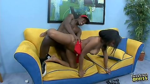 Hardcore ebony fuck from Shy Stone