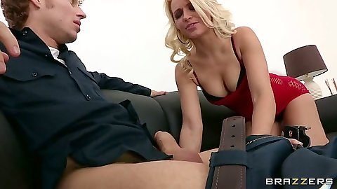 Squirter Anikka Albrite giving blowjob and fingered