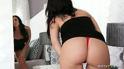 Nice ass Madison Rose putting on some pants