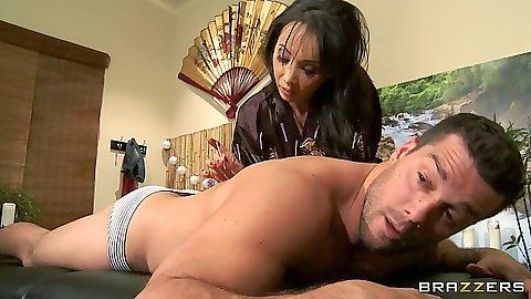 Asian milf massage from Katsuni