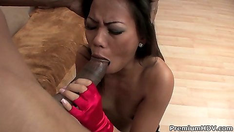 Asian Miley Villa big dick blowjob and cuck