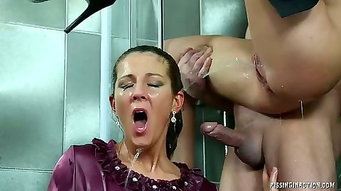 Facial pissing all over with group of sluts and Valentina Ross and Bella Morgan