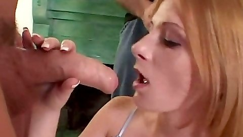Teen tryout with deep throat and pussy sex