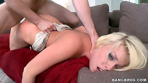 Rear entry pumping Britney Amber from behind