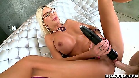 Big dick fucking milf Puma Swede with legs spread good view