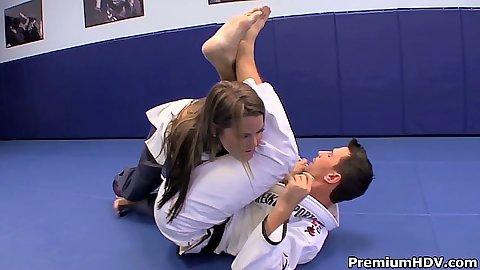 Athletic teen karate girl Megan Fenox