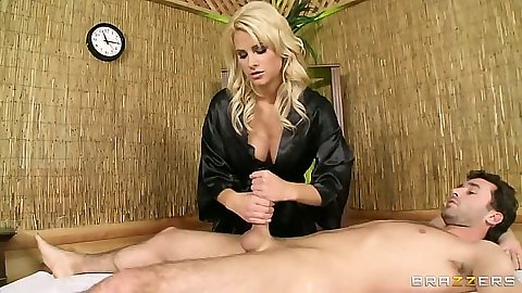Handjob with Jessica Nyx in bras and panties