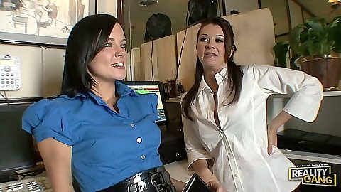 Lesbian milf sluts chatting at dinner Raquel DeVine
