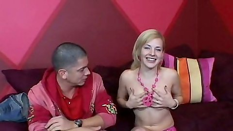Sexy petite teen Ally Ann naked on the bed
