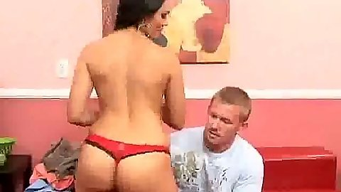 Undressing nice ass Rosario Stone and blowjob