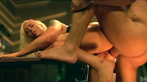 Rear entry anal on the desk with Lorelei Lee
