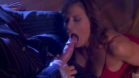 Blowjob from milf Devon Michaels and big dick reverse cowgirl sex